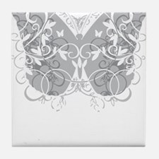 Brain-Cancer-Butterfly-blk Tile Coaster