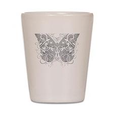 Brain-Cancer-Butterfly-blk Shot Glass