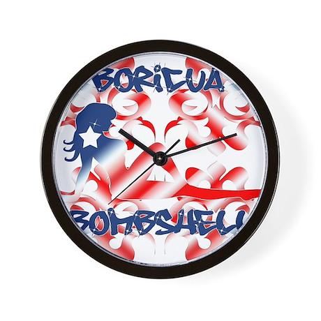 Boricua Bombshell Wall Clock