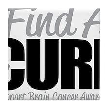 Brain-Cancer-Find-A-Cure Tile Coaster