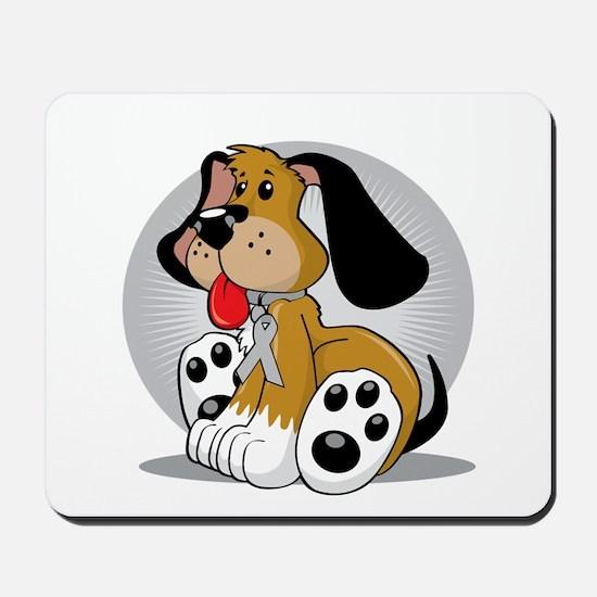 Brain-Cancer-Dog-blk Mousepad