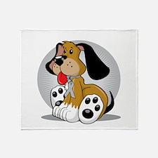 Brain-Cancer-Dog-blk Throw Blanket