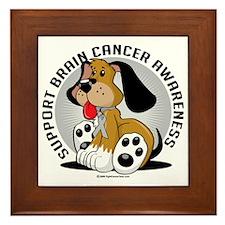 Brain-Cancer-Dog Framed Tile