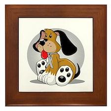 Brain-Cancer-Dog-blk Framed Tile