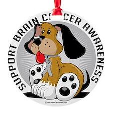 Brain-Cancer-Dog Ornament