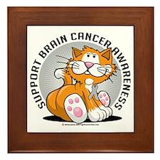 Brain-Cancer-Cat Framed Tile