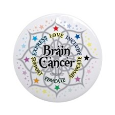 Brain-Cancer-Lotus Round Ornament