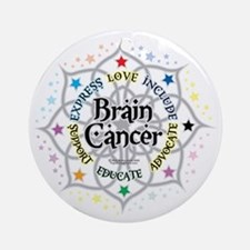 Brain-Cancer-Lotus Round Ornament