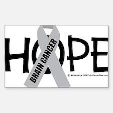 Brain-Cancer-Hope Decal