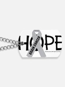 Brain-Cancer-Hope Dog Tags