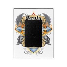 Brain-Cancer-Cross--Heart-blk Picture Frame