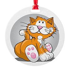 Brain-Cancer-Cat-blk Ornament