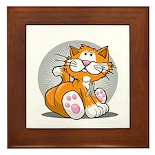 Brain-Cancer-Cat-blk Framed Tile