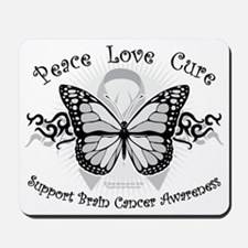 Brain-Cancer-Tribal-Butterfly Mousepad