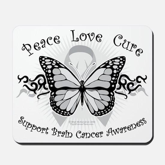 Brain-Cancer-Tribal-Butterfly Mousepad