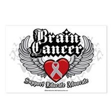 Brain-Cancer-Wings Postcards (Package of 8)