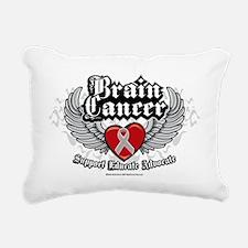 Brain-Cancer-Wings Rectangular Canvas Pillow