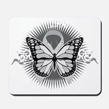 Brain-Cancer-Tribal-Butterfly-blk Mousepad