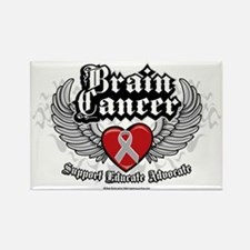 Brain-Cancer-Wings Rectangle Magnet