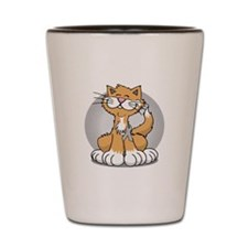 Paws-for--Brain-Cancer-Cat-blk Shot Glass