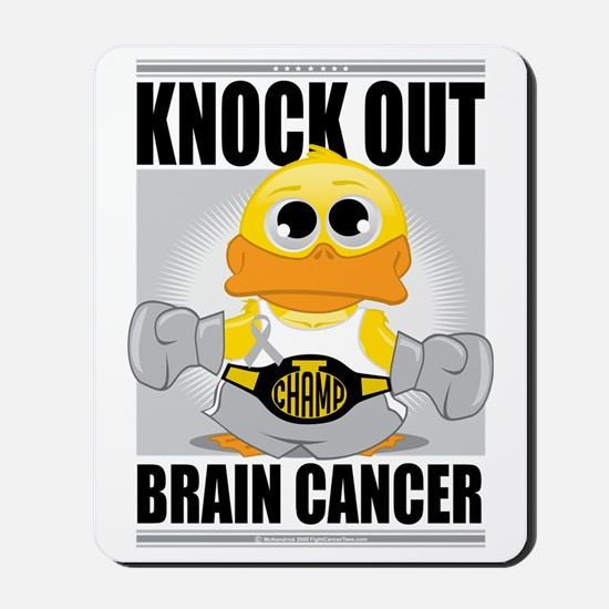 Knock-Out-Brain-Cancer Mousepad
