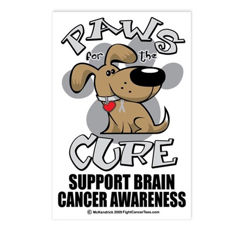 Paws-for-the-Cure-Dog-BRA Postcards (Package of 8)