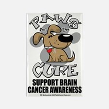 Paws-for-the-Cure-Dog-BRAIN-Cance Rectangle Magnet