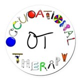 Occupational therapy Round Car Magnets