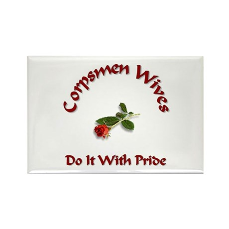 navy corpsmen wives Rectangle Magnet