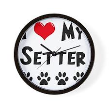 I-Love-My-Setter Wall Clock