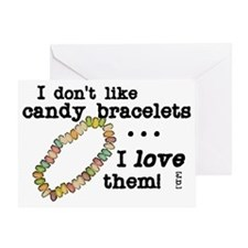 scrubs-candy-bracelets Greeting Card