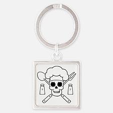 chef-pirate-T Square Keychain
