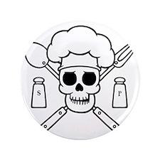 """chef-pirate-T 3.5"""" Button"""