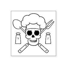 """chef-pirate-T Square Sticker 3"""" x 3"""""""