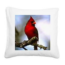 Cardinal Square Canvas Pillow