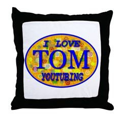 TOM I Love Youtubing Throw Pillow