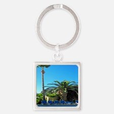 enjoy peace and relaxation palm tree Keychains