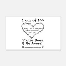1 out of 100 black Car Magnet 20 x 12