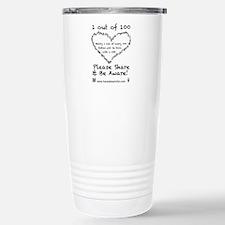 1 out of 100 black Travel Mug