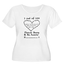 1 out of 100 black Plus Size T-Shirt