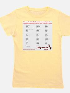 chloe tribute t-shirt back Girl's Tee
