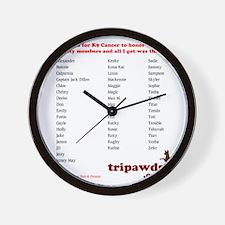 chloe tribute t-shirt back Wall Clock