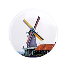 "Dutch energy wind mill 3.5"" Button"
