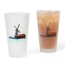 Dutch energy wind mill Drinking Glass