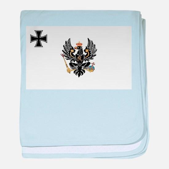 Prussian War Flag - Flagge Preußens - baby blanket