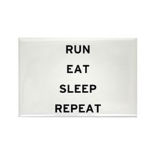 Run Eat Sleep Repeat Rectangle Magnet