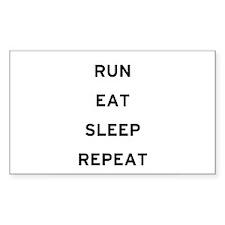 Run Eat Sleep Repeat Rectangle Decal