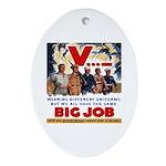 Same Big Job Oval Ornament