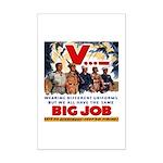 Same Big Job Mini Poster Print