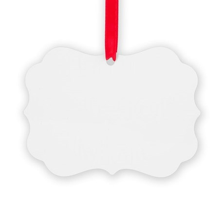 iThink therefore iMac bold Picture Ornament